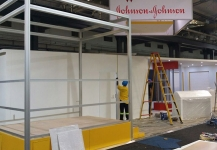 Expo stand under construction
