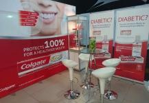 Portable stand for Colgate